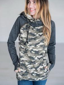 Толстовка с капюшоном для женщин с капюшоном и карманами