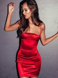 Sexy Bodycon Dress senza maniche Lace Up Backless Shaping Mini Dress