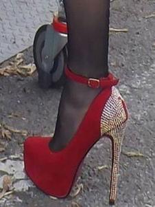 Сексуальные туфли на высоком каблуке со стразами на платформе туфли на лодыжке