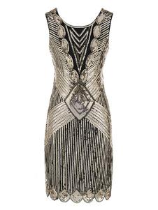 Flapper Dress Great Gatsby 1920-х годов Старинные Костюмы Женщины Блестки Платья Хэллоуин