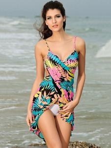 Летнее цветочное платье с открытой спиной Пляжное платье Сплит Платья без рукавов