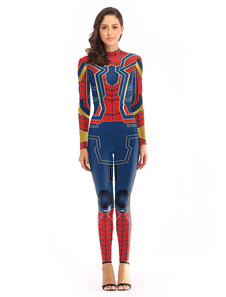 Carnevale Costume cosplay di Spider Man Halloween Cosplay Jumpsuit per donna