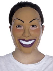 Disfraz Carnaval La máscara de purga de Halloween mujer sonriente accesorios Carnaval