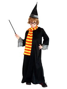 Carnevale Harry Potter Costume Cosplay Outfit Robe Uniforme Cappello Sciarpa Occhiali Magic Stick 5 pezzi Set Halloween