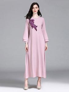 Abito Abaya a strati con maniche lunghe e abito musulmano