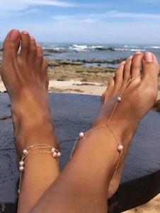Beach Anklet Feet Thong Sandali a zampa di cavallo Sandali alla caviglia