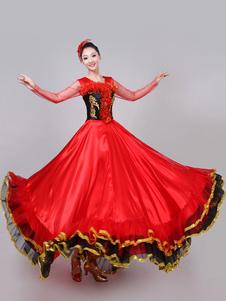 Traje De Dança 2020 Mulheres Espanhol Paso Doble Tourada Flamenco Vestido De Dança Traje De Desempenho Halloween