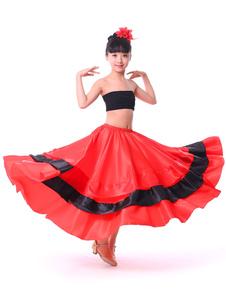 Maxi Paso Doble Gypsy Flamenco Salão de baile Dança Dancewear Ruffled Swing Saias Trajes Halloween