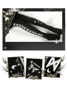 Lolita meia-calça de veludo grama sob a luz impressão Lolita meia