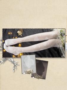 Meias altas do joelho de Rayon da nuvem do algodão das calças justas de Lolita do doce