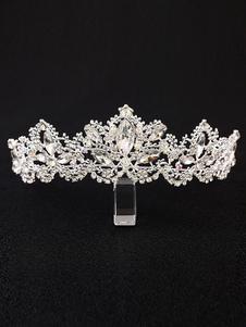Casamento tiara coroa strass frisada nupcial acessórios para o cabelo