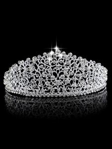 Принцесса Корона Свадебные Тиара Свадебные Головные Уборы Стразы Королевские Аксессуары Для Волос