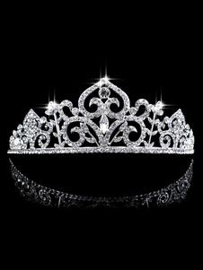 Принцесса Тиара Свадебные короны Свадебные головные уборы Стразы Королевские аксессуары для волос