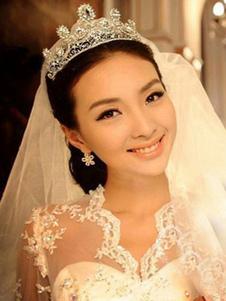 Tiara De Casamento De Noiva De Prata Crown Princess Headpieces Strass Reais Acessórios Para o Cabelo