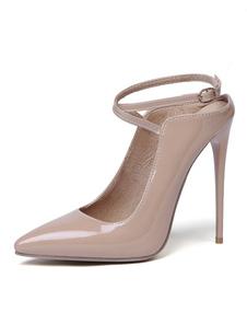 Scarpe col tacco alto per donna 2020  con tacco a spillo in punta crissata scarpe sexy
