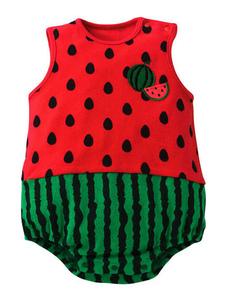 عيد الرعبأطفال البطيخ الفراولة الأناناس زي ملابس الرضع الرضع