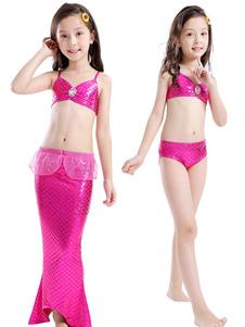 Disfraz de niños Carnaval Traje de sirena traje de baño traje de baño para niños traje de cola de pescado Halloween Disfraz Carnaval