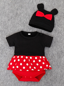 Minnie Traje Cosplay Mickey Mouse Arcos Infantil Roupa Do Bebê Recém-nascido Dos Desenhos Animados Halloween