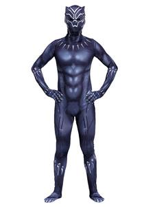 عيد الرعبأعجوبة الفهود السود زي الرجال هالوين ازياء ليكرا دنة العضلات