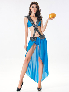 Trajes de Halloween trajes Deusa Sexy grega para mulheres