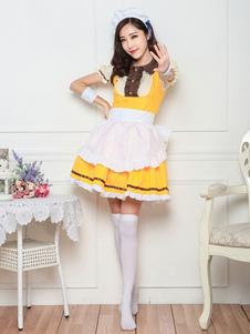 Costume Carnevale La ragazza del servo di Halloween del costume della domestica veste l'attrezzatura