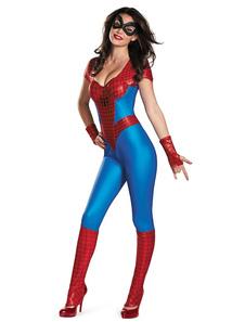 Traje do homem aranha Halloween Mulheres macacões Outfit