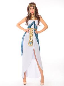 عيد الرعبملكة المصري زي كليوباترا هالوين النساء الفساتين