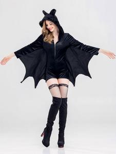 Disfraz Carnaval Traje de murciélago Mujeres Vampire Sexy Demonio Disfraces Monos Halloween Carnaval