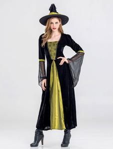 Dia das bruxas bruxa traje mulheres maxi vestidos Halloween