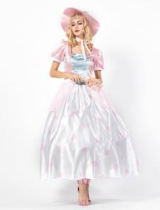 عيد الرعبحكاية الأميرة زي halloweem المرأة مجموعة فساتين الوردي