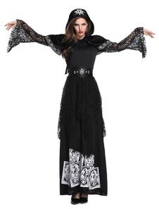 Traje de bruxa Halloween Corpse Bride Dresses Set para mulheres