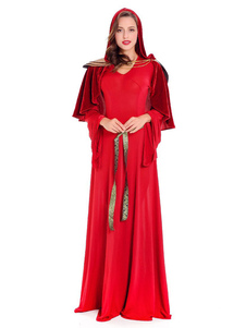 Costume Carnevale Vestito da donne Halloweem Red Queen Princess Queen Dress Outfit  Costume Carnevale