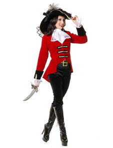 Costume Carnevale Pirate Costume Captain Women Halloween Pirati Dei Costumi Caraibici