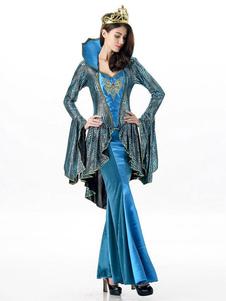 Traje De Halloween 2020 Grega Rainha Azul Vestidos Maxi