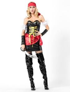 Сексуальные пиратские костюмы хэллоуин женские платья комплект
