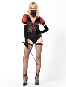 Trajes do instrutor de animais das mulheres do Dia das Bruxas do traje do mágico Halloween