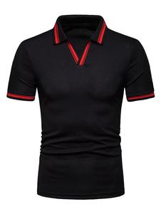Camiseta casual de manga corta diseñada en dos tonos para hombres 2020