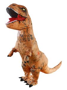 عيد الرعبنفخ ديناصور زي هالوين ازياء تي ريكس الكبار للجنسين