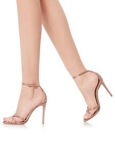 Sapatos De Noite 2020 De Cor Nude Cetim Aberto Toe Tornozelo Cinta Sandálias De Salto Alto Senhoras Sapatos De Festa