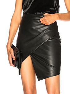تنورة صغيرة سوداء عام2020بتجعيد بو الجلود تنورة احيط