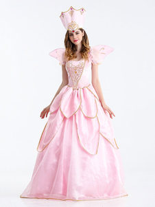 Trajes de Halloween Vestido Asas Fada Madrinha Mulheres Princesa Mardi Gras Definir Trajes de Férias