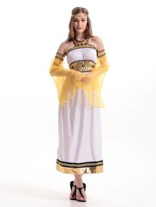 """Trajes """"sexy"""" árabes ajustados do poliéster das mulheres brancas dos trajes da deusa Halloween"""