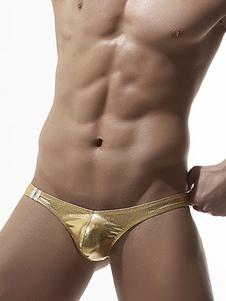 الرجال ملخصات مثير الذهب الملابس الداخلية بو