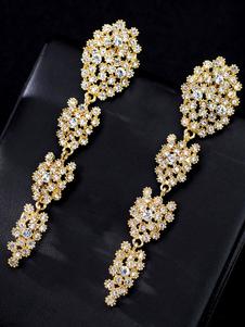 Orecchini da sposa strass bordare gioielli da sposa traforati
