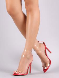 Sandalo tacco alto da donna 2020 Open Toe Criss Cross cinturino alla caviglia Sexy scarpe