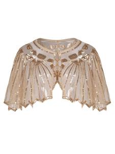 Costume Carnevale Accessori di Vestito da flapper da donna 2020 Retro donne Cape Sequin degli anni '20 Grande Gatsby Flapper Scialle  Costume Carnevale