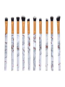 Juegos de pinceles de maquillaje para mujeres Aplicación de color precisa Plástico 10 Piezas de juegos de pinceles