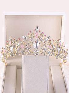 Copricapo da Sposa Tiara Principessa Corona Strass Accessori per Capelli