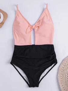 Um maiô de dois pedaços Backless atado Beach Bathing Suit