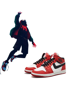 Anime Cosplay Shoes Spider Man Into The Spider Verse Miles Morales Leather Sports Shoes Carnival